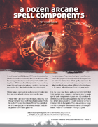 A Dozen Arcane Spell Components