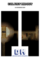 Cultist Hideout - A Dungeon Map incl. Realm Works file
