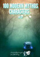 100 MODERN MYTHOS CHARACTERS vol2