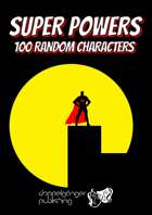 Super Powers: 100 random generic characters