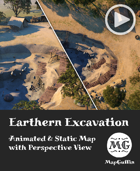 Earthen Excavation - Animated & Static Map with Perspective Views