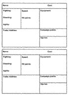 Planet 28 character sheets