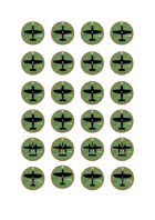 Simple Aircraft Counters Pack 1 - Daylight Fighters Over Germany