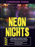 Neon Nights - Cyberpunk Battlemap