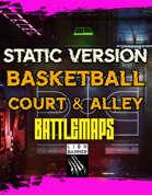 Cyberpunk Basketball Court Battlemap Static