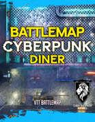 Cyberpunk Diner and & Alleys Battlemap