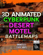 Animated Cyberpunk Desert Motel