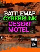 Cyberpunk Desert Motel Battlemap