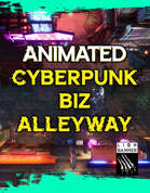 Animated Cyberpunk Biz Alleyway