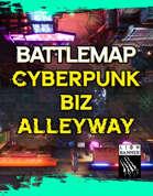 Cyberpunk Biz Alleyway