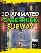 Animated Cyberpunk Subway Battlemap