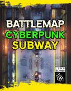 Cyberpunk Subway Battlemap