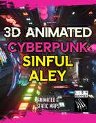 Animated Cyberpunk Sinful Alley Battlemap