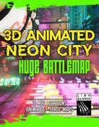 Animated Cyberpunk Neon City - Huge Bundle Battlemap
