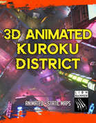 Cyberpunk Kuroko District - Animated Battlemap