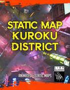 Kuroko District Cyberpunk Battlemap - STATIC