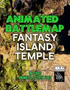 Animated Fantasy Island Temple Battlemap