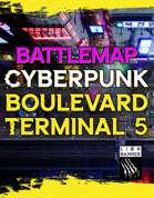 Cyberpunk Boulevard Terminal 5 Static Map