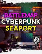 Cyberpunk Seaport - Static Battlemap