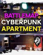 Cyberpunk Apartment Static Battlemap