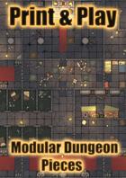 Modular Dungeon Rooms   Print, Cut, Play!