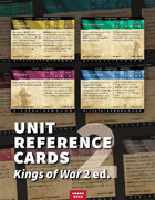 Kings of War 2E unit aid cards