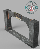 Concrete Death Race Papercraft Gates
