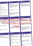 Cartes de condition 5e (SRD) en français