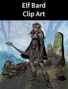 Elf Bard Clip Art