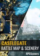 Castle Gate Battlemaps & Scenery