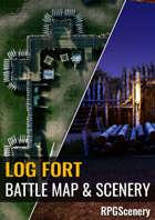 Log Fort Battlemaps & Scenery