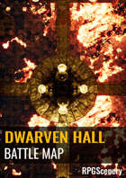 Dwarven Hall Battlemaps