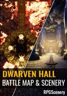 Dwarven Hall Battlemaps & Scenery