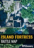 Island Fortress Battlemaps