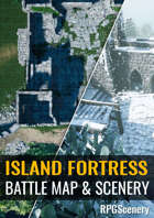 Island Fortress Battlemaps & Scenery