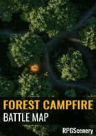 Forest Campfire Battlemaps