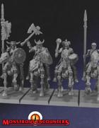 Skeleton Horsemen Set 1 (STL)