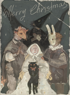 Resin Rats Christmas Greeting Card