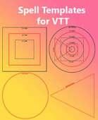 Spell Templates bundle for VTT