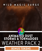 Animated VTT Tornadoes and Dust Storms - Token and Weather Pack 2