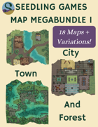 Seedling Games Map Megapack 1 - City, Town and Forest [BUNDLE]