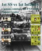 Custom Panzer Leader counters for 1st SS & US 1st Infantry