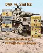 Custom Panzer Leader counters for 15th Panzer & 2nd New Zealand
