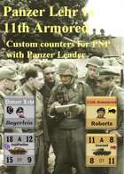 Custom Panzer Leader counters for Panzer Lehr & 11th Armoured