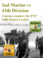 Custom Panzer Leader counters for 2nd Marine & IJA 43rd Division
