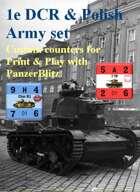 Custom PanzerBlitz counters for French 1e DCR & Polish Army