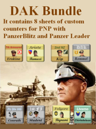 Custom PanzerBlitz/Panzer Leader counters DAK Bundle
