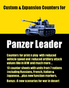 Custom & Expansion Panzer Leader counters