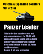 Custom & Expansion Panzer Leader counters set #2