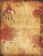Seasons of the Dead - Character Sheets